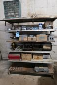 (LOT) MISCELLANEOUS HARDWARE WITH SHELVING