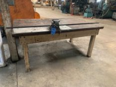 4' X 7' HD WOOD TABLE WITH VISE