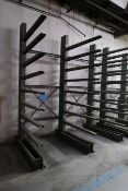 "SECTION 48"" ARM X 102"" WIDE X 10' HIGH SINGLE SIDED ADJUSTABLE ARM CANTILVER RACK (3 UPRIGHTS & 24"