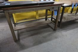 (LOT) (4) MISCELLANEOUS SIZE STEEL TABLES **NO CONTENTS** **DELAY REMOVAL - PICKUP 9-23-20**