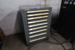 (LOT) TURRET PUNCH TOOLING WITH VIDMAR NINE DRAWER TOOL CABINET