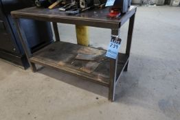 "25"" X 48"" X 32-1/2"" HIGH SHOP BUILT WELDED STEEL TABLE"