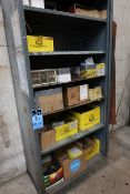 (LOT) MISCELLANEOUS ABRASIVE WHEELS AND DISC WITH STORAGE CABINET