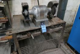 "8"" DOUBLE-END BENCH MOUNTED GRINDER WITH BENCH"