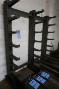 "SECTION 12"" ARM X 76"" WIDE X 84"" HIGH SINGLE SIDED AJDUSTABLE ARM CANTILEVER RACK (3 UPRIGHTS & 21"