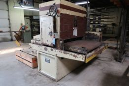 "36"" WIDE TIMESAVER MODEL 137-1 HDMW BELT SANDER; S/N 19236Y WITH (6) EXTRA SANDING BELTS AND"