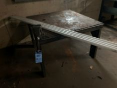 4' X 4' STEEL TABLE WITH VISE