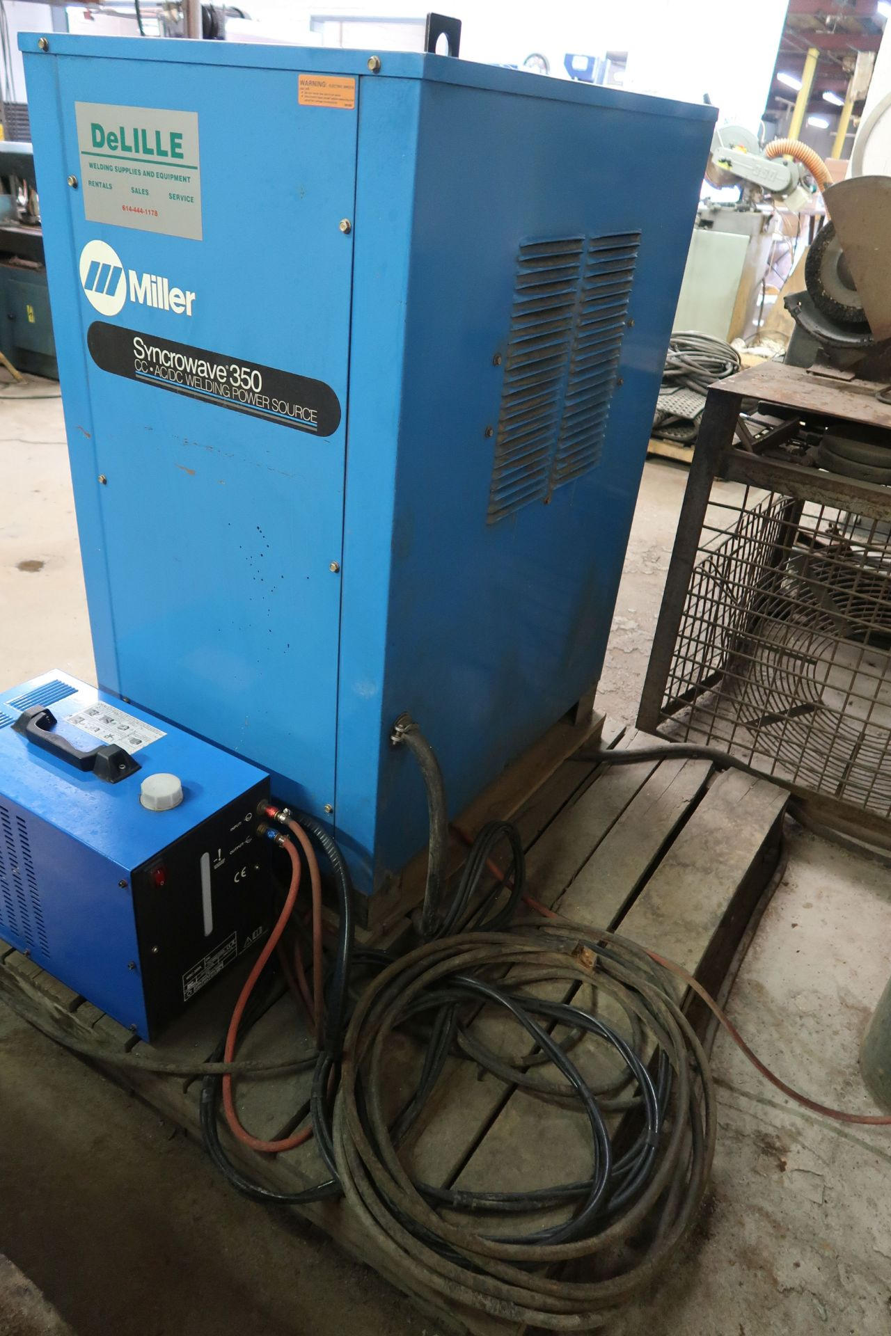 350 AMP MILLER SYNCROWAVE 350 CONSTANT CURRENT AC/DC ARC WELDING POWER SOURCE; S/N KA885504, WITH - Image 4 of 5