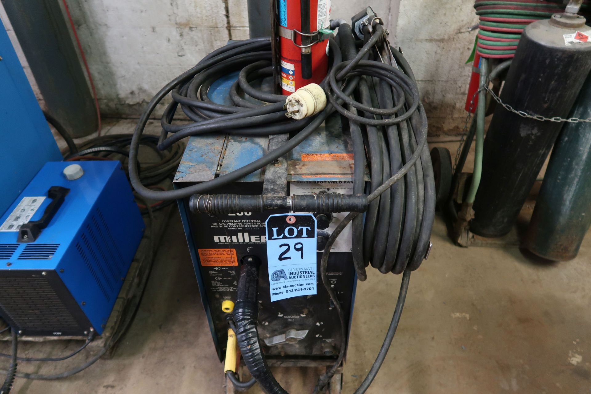 200 AMP MILLER MODEL MILLERMATIC 200 CONSTANT POTENTIAL DC ARC WELDING POWER SOURCE AND WIRE CONTROL - Image 3 of 5