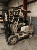 KALMAR MODEL C50 FORKLIFT **NO FORKS - DOES NOT RUN**