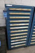 (LOT) TURRET PUNCH TOOLING WITH VIDMAR 12-DRAWER TOOL CABINET