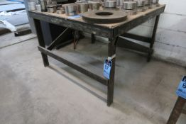 "48"" X 48"" X 32"" HIGH X 1/4"" THICK STEEL TOP PLATE HEAVY DUTY STEEL FRAME TABLE **DELAY REMOVAL -"