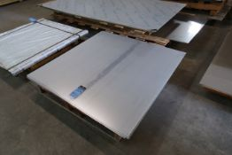 "(LOT) (6) PIECES 48"" X 48"" X 1/6"" THICK (APPROX.) STAINLESS STEEL"