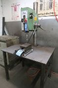 "24"" SOLBERGA WILLIS TYPE 1630 BENCH MOUNTED GEARED HEAD DRILL WITH BENCH"
