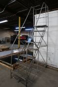 EIGHT STEP PORTABLE WAREHOUSE LADDER