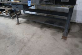 """30"""" X 72"""" X 33"""" HIGH STEEL WORKBENCH **DELAY REMOVAL - PICK UP 9-23-20**"""