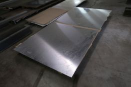 "(LOT) (2) PIECES 48"" X 48"" X 1/8"" THICK STAINLESS STEEL"