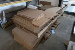 (LOT) MISCELLANEOUS SIZE CARDBOARD SHIPPING BOXES AND SHIPPING SUPPLIES