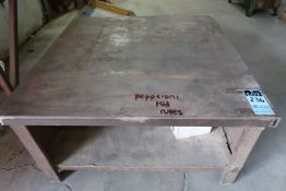"48"" X 48"" X 25"" HIGH SHOP BUILT WELDED STEEL TABLE"