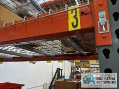 """SECTION 36' X 96"""" X 10' PALLET RACK WITH DECKING"""