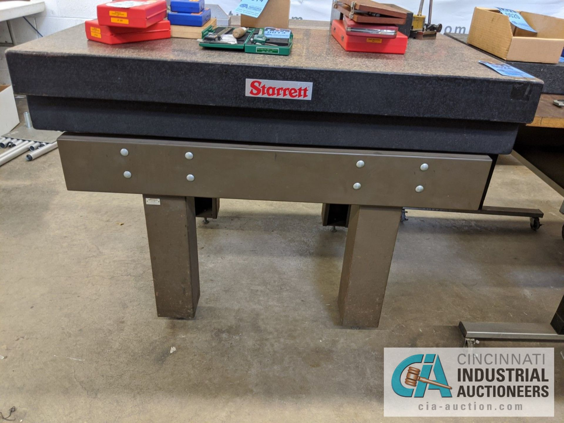 """36"""" X 48"""" STARRETT GRANITE SURFACE PLATE WITH STAND - Image 2 of 2"""
