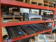 """(LOT) APPROX. (100) PIECES OF ROUND STEEL BARS, MOSTLY 48"""" LONG AND DIAMETERS UP TO 3"""""""