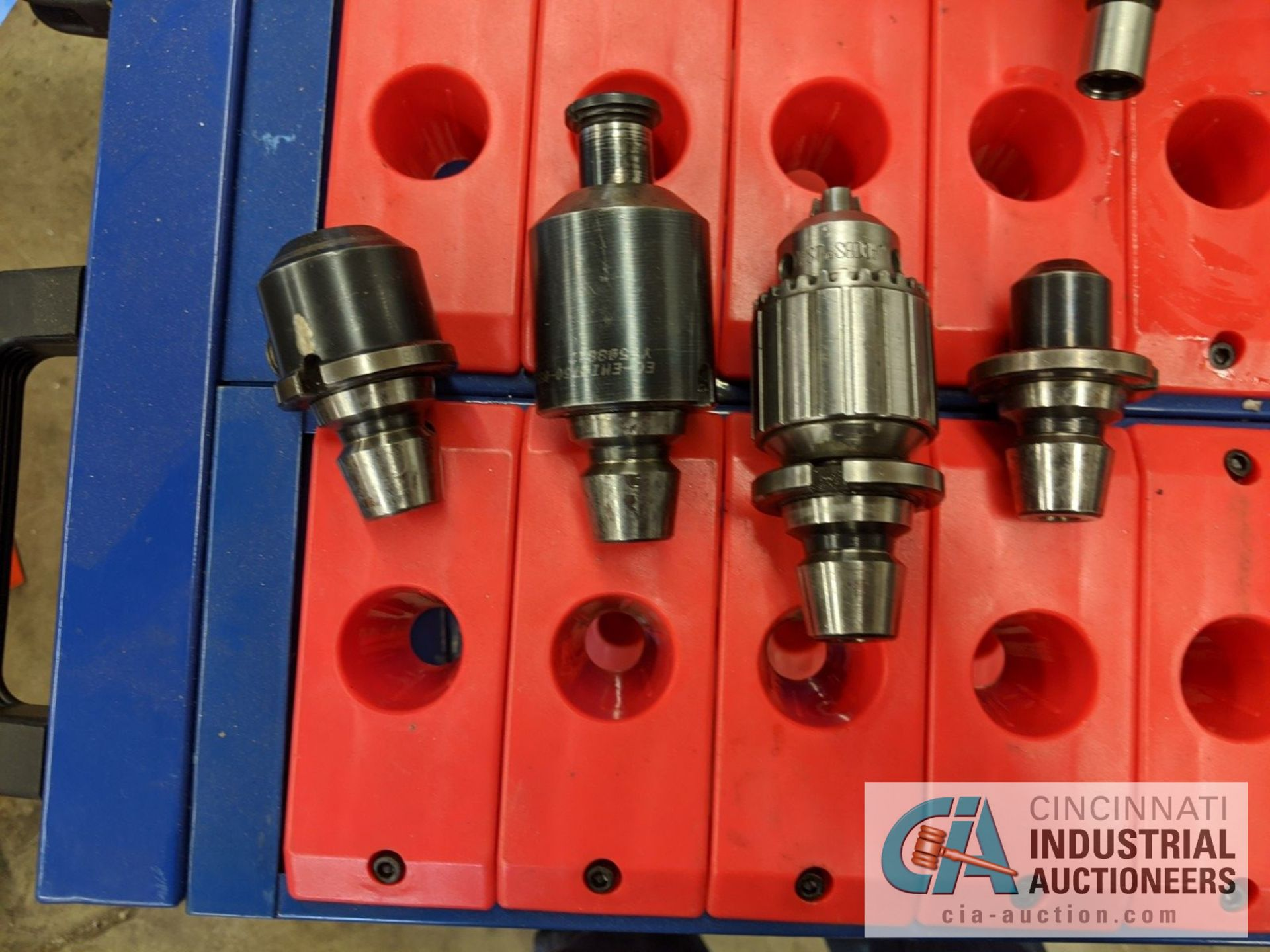 (LOT) 30 TAPER TOOLS - (9) PIECES, COLLETS AND CART - Image 3 of 5
