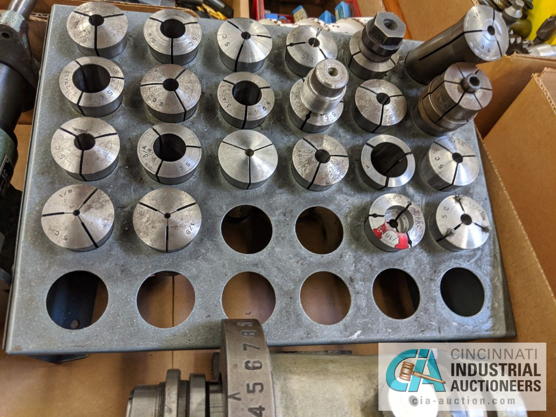 (LOT) ASSORTED 5C TOOLING; COLLETS AND SPIN FIXTURES - Image 5 of 5