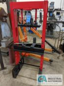 "20 TON H-FRAME SHOP PRESS WITH 20 TON PITTSBURG AIR / HYDRAULIC BOTTLE JACK, 24"" BETWEEN SIDE"