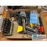 BOXES OF ALLEN WRENCHES AND T-HANDLE HEX WRENCHES