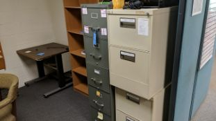 (LOT) FILE CABINETS, BOOKCASE, COMPUTER STAND