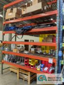 """SECTIONS 36"""" X 96"""" X 10' PALLET RACK WITH DECKING"""