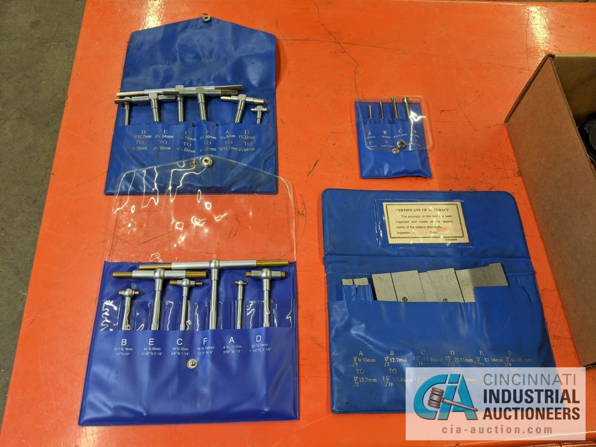 (LOT) INSPECTION; T-HANDLE MICROMETERS, PARALLEL SET AND Z-AXIAL PRESET GAUGE - Image 2 of 8