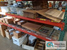 (LOT) ASSORTED CORRUGATED AND PACKING ON RACK
