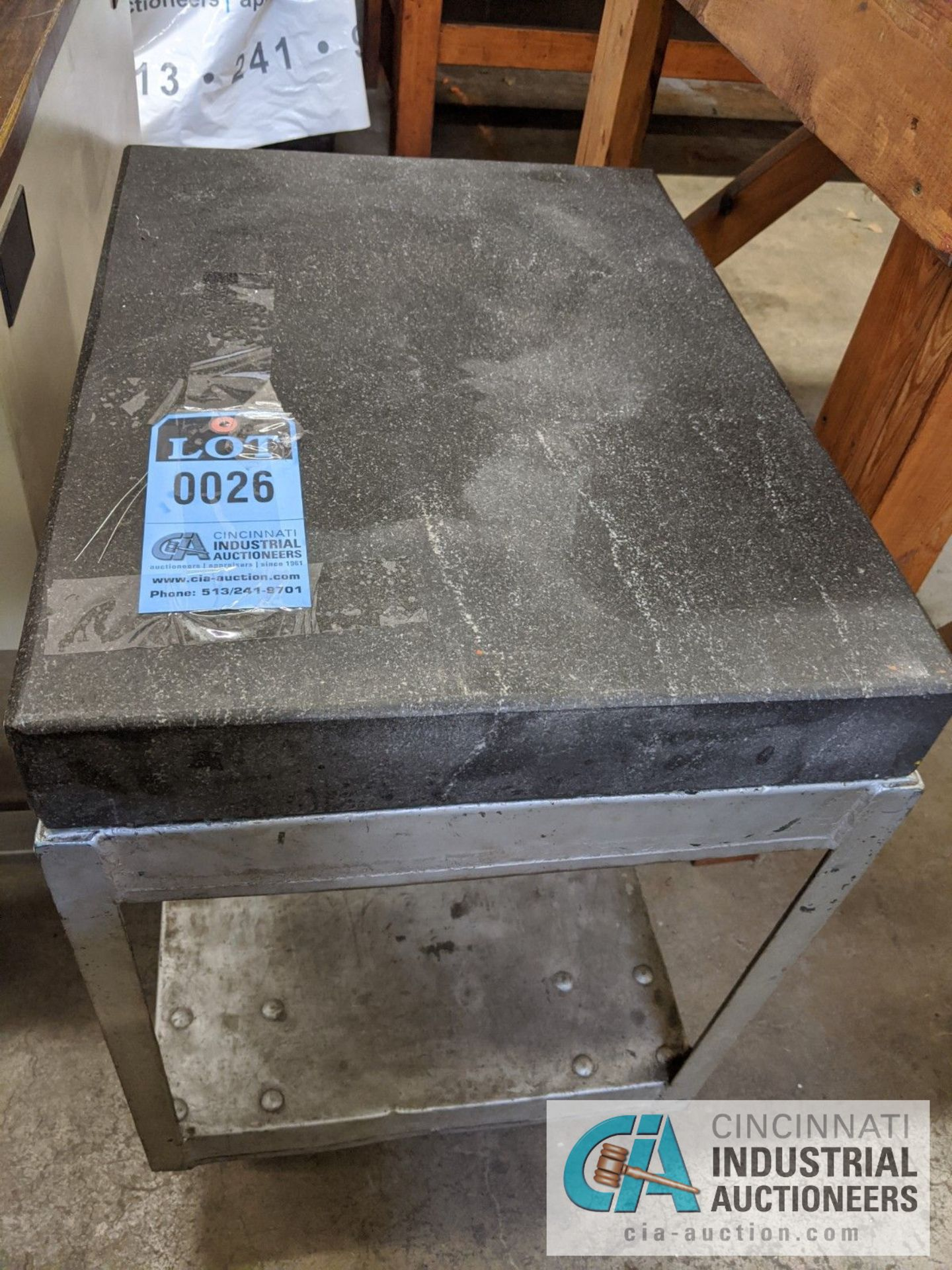 """18"""" X 24"""" GRANITE SURFACE PLATE WITH STAND"""
