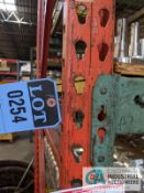 """SECTIONS 42"""" X 96"""" X 10' PALLET RACK WITH DECKING"""