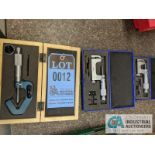 """OD MICROMETER BY SHARS AND OTHER, (2) AT 1-2"""" AND (1) AT .093-1"""""""