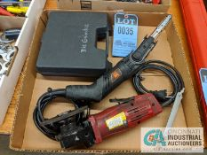 "(LOT) CHICAGO ELECTRIC ANGLE GRINDER, WEN 1/2"" HAND HELD BELT SANDER, 1/4"" PNEUMATIC DIE GRINDER"