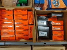 (LOT) VARIOUS SIZES BEARINGS BY NACHI, TIMKEN, BL, ORS, AND EBC (APPROX. 150 BEARINGS)