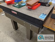 "36"" X 48"" STARRETT GRANITE SURFACE PLATE WITH STAND"