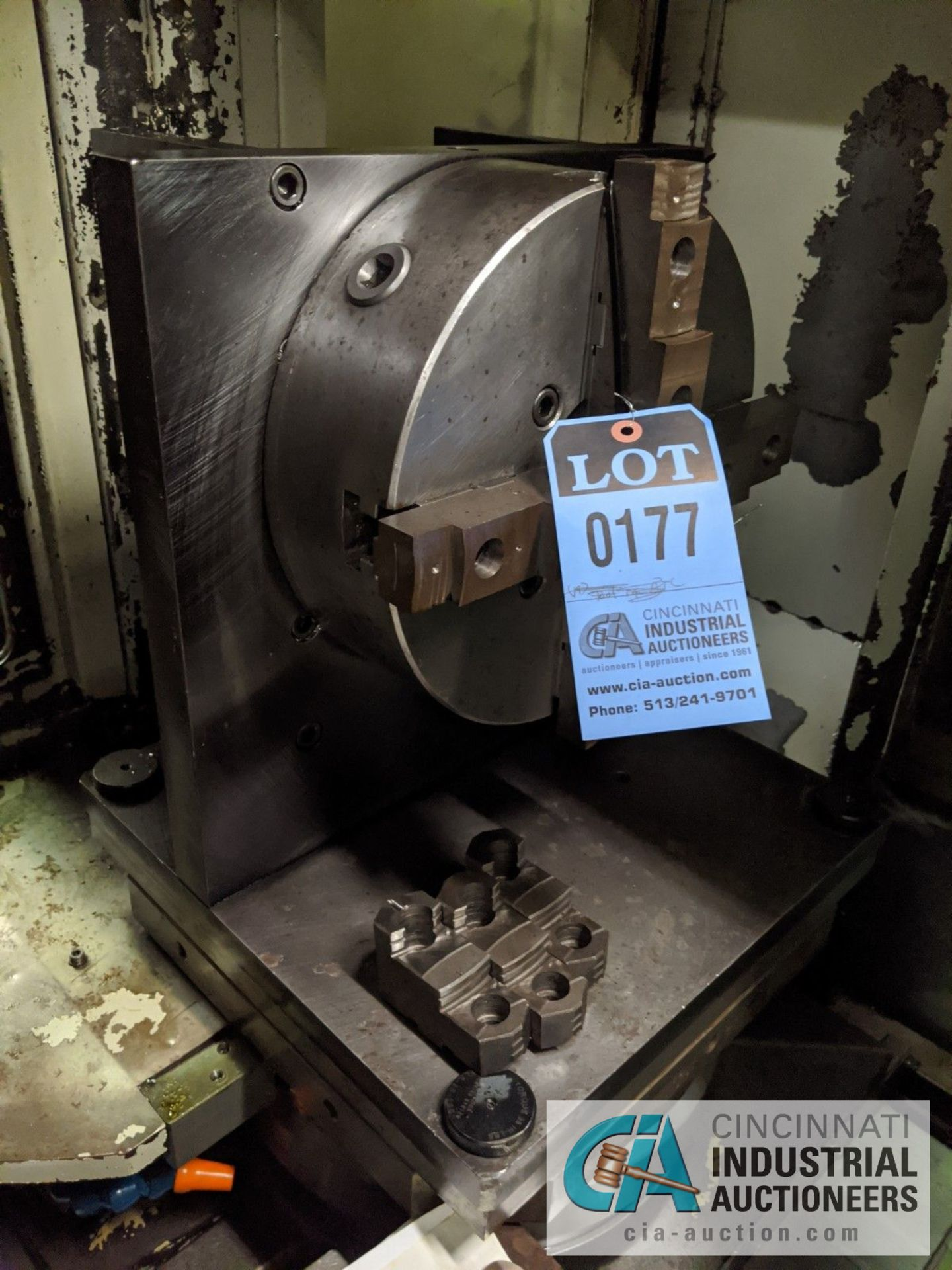 """12"""" 3-JAW CHUCK ON MACHINE TABLE"""