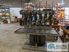 "24"" ALLEN 6-SPINDLE PRODUCTION DRILL, 21"" X 66"" TABLE"