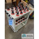 40 TAPER TOOL HOLDERS WITH CART AND COLLETS