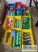 (LOT) BEARINGS IN PLASTIC TOTES; APPROX. (120) PIECES BY EBC AND MRC
