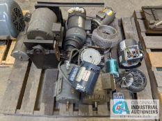 (LOT) SKID OF ELECTRIC MOTORS