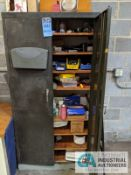(LOT) 2-DOOR CABINET WITH HARDWARE AND MAINTENANCE ITEMS