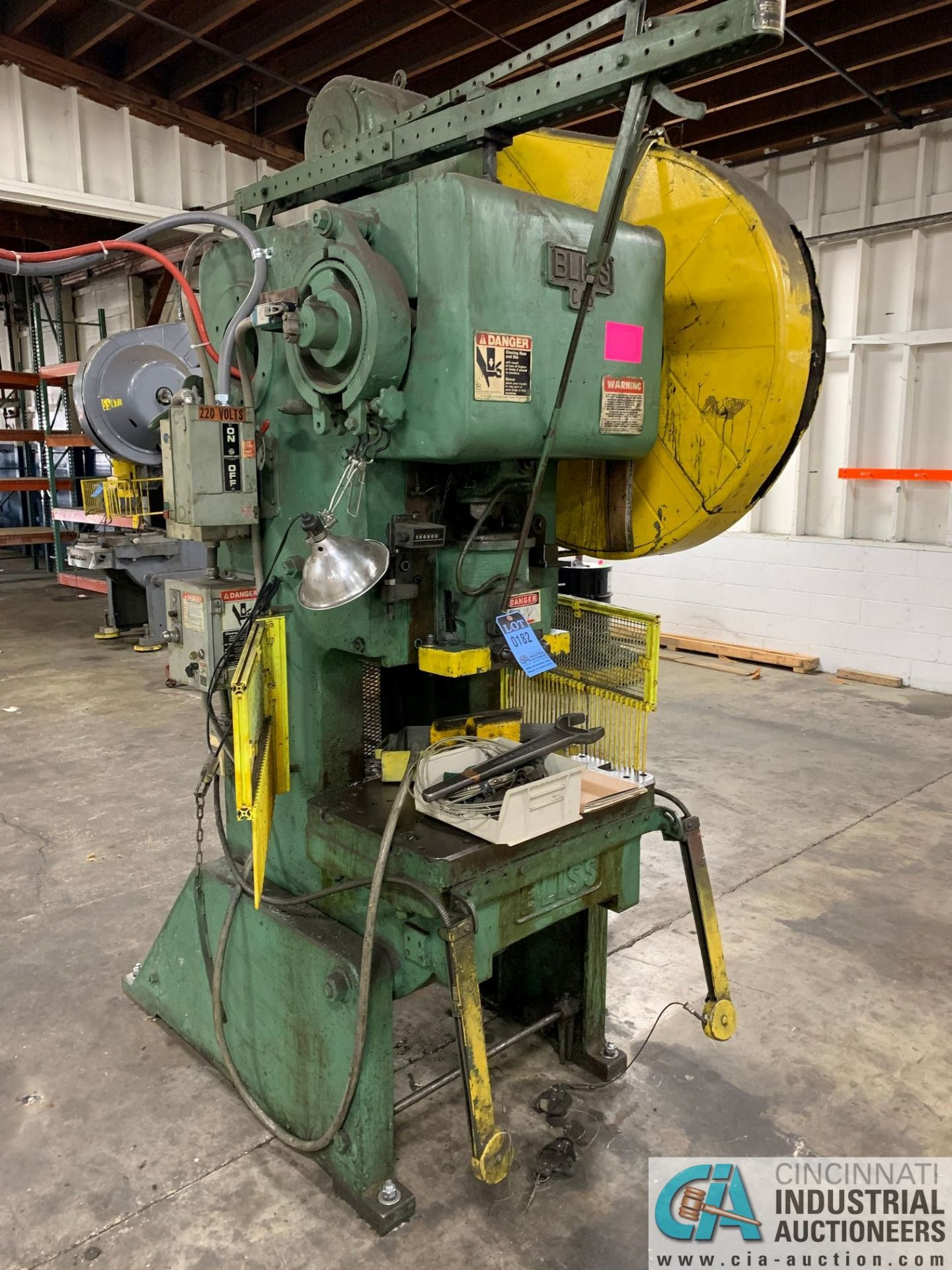 "45 TON BLISS C45 OBI PRESS; S/N N/A, 2.5"" ADJ., 3"" STROKE, 12.25"" SHUT HEIGHT"
