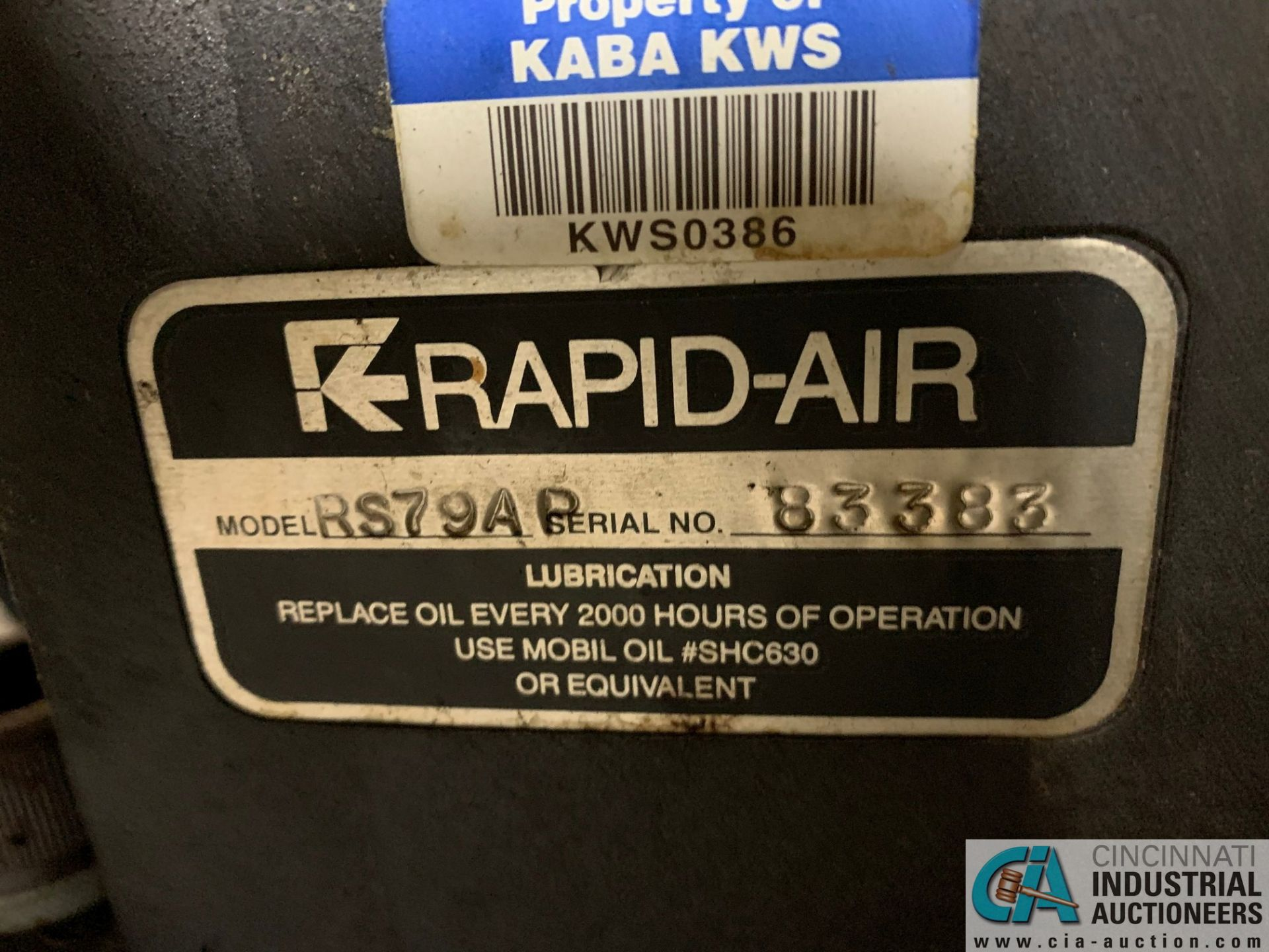 RAPID AIR FEED SYSTEM MODEL RS79AP DE UNCOILER; S/N 83383 AND MODEL SBX8 STRAIGHTENER - Image 4 of 10
