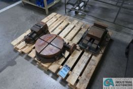 "(LOT) 15"" TROYKE MODEL BH-15 ROTARY TABLE WTIH 8"" AND 6"" SWIVEL BASE VISES"