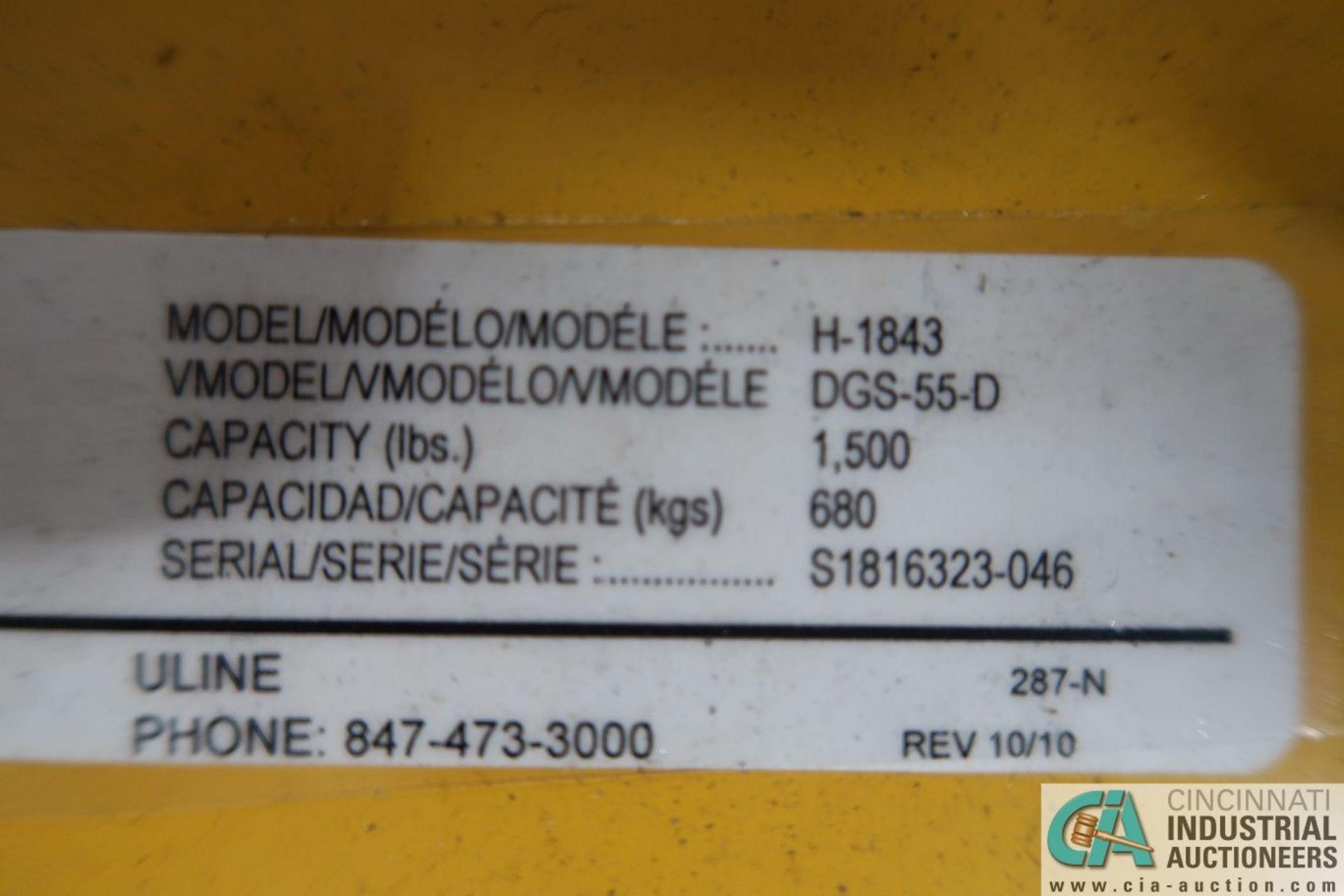 1,500 LB. CAPACITY VESTIL MODEL DGS-55-D LIFT TRUCK DRUM CLAMP - Image 2 of 2